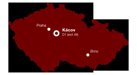 Hotel Kácov - mapa